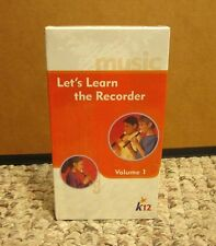 LEARN TO PLAY RECORDER woodwind instrument VHS kids instruction NEW