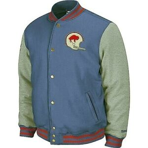 NFL Buffalo Bills Vintage Fleece  Snap Jacket  By Reebok  XL Only!-New!