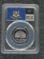 1999-S 25c Connecticut CLAD State Flag Label Quarter Proof PCGS PR70DCAM
