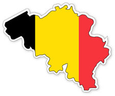 BELGIUM MAP SILHOUETTE FLAG VINYL CAR VAN IPAD LAPTOP STICKER