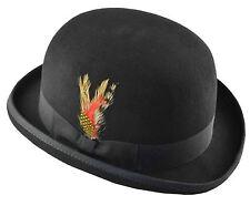 K Men's Wool Felt Derby Hat Large Black