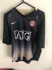 Manchester United Away Football Shirt Nike Jersey Man Utd Medium VGC