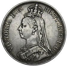 1887 CROWN - VICTORIA BRITISH SILVER COIN - NICE