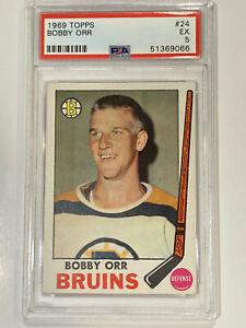 1969 Topps Hockey #24 Bobby Orr Boston Bruins HOF PSA 5 EX