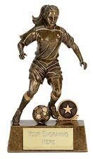 6 x 160mm Female Football Trophies (RRP £8.79 each) engraved and postage free