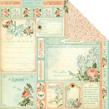 Gráfico 45 2 Hojas, tiempo para florecer Colección, Corte aparte, junio