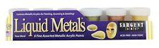 Sargent Art Liquid Metals - Metallic Acrylic Set - 6 x 0.75 oz - 6 Assorted Colo