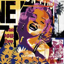 Paul Raynal: Club Fertig-Bild 50x50 Wandbild Collage Marilyn Kult Pop