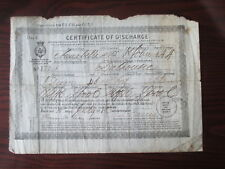 SAILOR'S DISCHARGE CERT LIVERPOOL1886 CANADIAN BARQUE 'ANNABELLA' ( LOST 1886)
