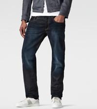 G Star Men's 3301 Jeans Hydrite Dark Age 34 waist 34 leg Straight Leg Indigo NEW