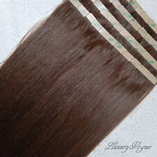 "22"" 100% Human Hair 3M Seamless Tape-in Extensions Remy #4 (Dark Brown)"