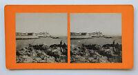 Antibes Francia Foto Stereo di Carta Vintage Verso