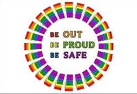Gay Pride Refrigerator Magnet BE OUT BE PROUD BE SAFE