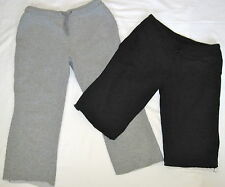 2 LOT Capri Sweat Lounge Athletic Shorts AVIA GAP Gray Black Sz S Fitness Yoga