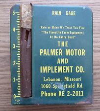 PALMER MOTOR & IMPLEMENT CO ADVERTISING RAIN GAUGE LEBANON MISSOURI - Farm Equip