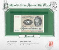 World Banknotes Denmark 20 kroner P-49c.1 1981 UNC C1811