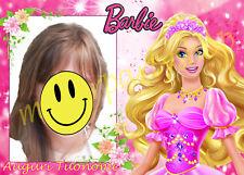 Cialda - Ostia per torte Barbie con tua foto. Personalizzabile! Anche A3!