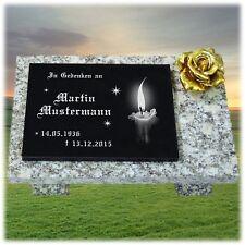 Grabstein GRANIT Grabplatte Grabtafel mit Ihrer Wunsch Gravur 30x20 cm- gg32s