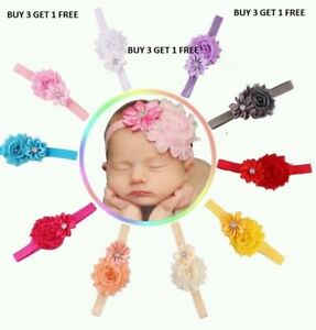 Girls Baby Girls hair AccessoriesDouble flora headband 10 colors UK seller