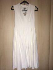 BNWT Asos Cream Wrap Top Textured Midi Dress 10