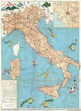 1958 Salomone Pictorial Map of Italy