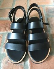 51d235313f4f NEW Vince Black Leather Ankle Strappy Macey Gladiator Sandal Shoe Size 6.5   275