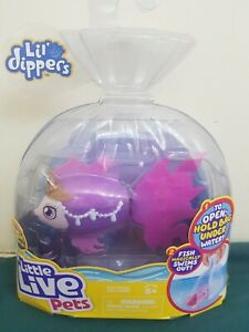 little live pets toy fish lil dippers with fish feeder royal fish - new & sealed