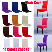 Pure Stretch Spandex Dining Room Chair Cover Seat Restaurant Wedding Party Decor
