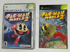 NO GAME- XBOX PAC MAN WORLD 2- CASE & MANUAL ONLY -NO GAME