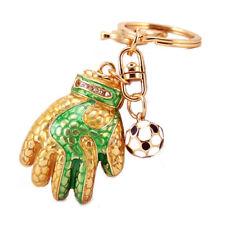 Rhinestone Goalkeeper gloves keychain,crystal soccer gloves keyring