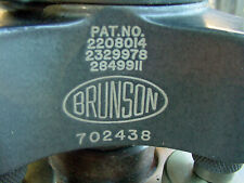 Brunson 1970 Vintage Surveying Model 76 Rh190 Jig Transit Amp Tool Box
