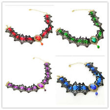 New Lace Gemstone Gothic Victorian Choker Collar Necklace Pendant Punk Cosplay