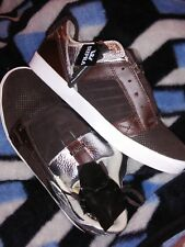 supra skylow brown perf suede/silver leather size 12