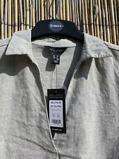 New Look melange shirt tunic, grey, UK 10 BNWT