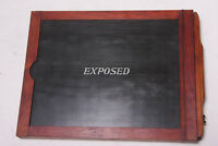 "Full Plate 6 1/2 x 8 1/2"" Glass Plate Wood Film Holder - Bottom needs glue LF03"