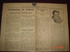 MALAYA CATHOLIC LEADER, 1937 Newspaper Clipping, Half Page, Rare!