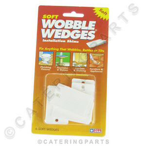 GENUINE SOFT WOBBLE WEDGES 6 PACK OF TAPERED PLASTIC SHIMS FOR FEET TABLE LEGS