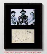 The Crickets Autographed Mat Piece! Jerry Allison! Joe B. Mauldin! Buddy Holly!