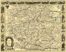 Bohemia Full Size PRINTED COPY Replica Old John Speed Map  c.1626  UNIQUE GIFT
