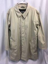 d'Avenza Harrods London Trench Coat Jacket Khaki Mens Removable Wool Liner Italy