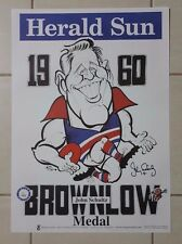 JOHN SCHULTZ HAND SIGNED 1960 BROWNLOW WEG FOOTSCRAY LEGEND BROWNLOW MEDALLIST
