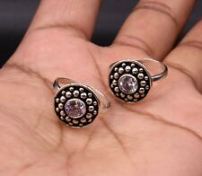 Indian Traditional Hand Crafted Solid Silver Toe Ring Band Tribal Jewelry Ntr15