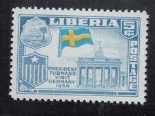 Liberia # 369 MNH 1958 Flag Issue With Sweden Flag ERROR France