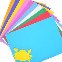 10 Sheets Multicolor A4 Sponge EVA Foam Paper Funky Kids Handmade DIY Hand Craft