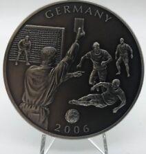 Libéria 2006 Allemagne World Petit $5 Dollars Fair Play Argent Plaqué