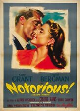 Notorious (1946) Cary Grant Ingrid Bergman Hitchcock movie poster print