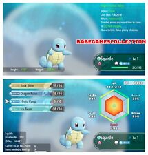 Pokemon Let's Go Pikachu & Eevee ✨ SHINY ✨ 6 IV 1 LEVEL Squirtle FAST DELIVERY