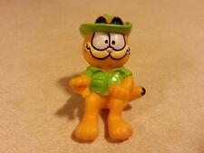 Garfield 1981 Green Hat Safari Sitting PVC Figurine cake topper - Loose
