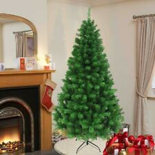 Xmas Christmas Tree Green 5-6-7FT Pine Metal Stand Tips Artificial Tree Decor