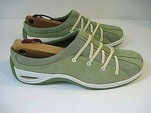 Cole Haan Nke Air Green Suede Comfort Slip On Mules Shoes Size 9 B